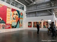 Shepard Fairey: Damaged. Presented by Obey Giant and Library Street Collective at Werkartz. Photo Credit Stephen Levey.