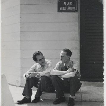 MAN RAY, Man Ray with Duchamp, 1948; © Man Ray Trust/Artists Rights Society (ARS)/ADAGP, Paris 2018. Image courtesy of Gagosian Gallery