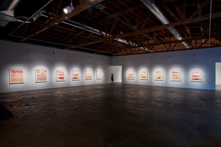 Louise Bourgeois, The Red Sky, Hauser & Wirth Los Angeles; Photo credit Shana Nys Dambrot