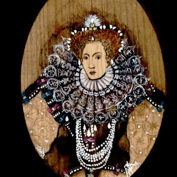 Queen Elizabeth I by Red, the Artist, 100 Women and More, Soka University of America; Image courtesy of the artist