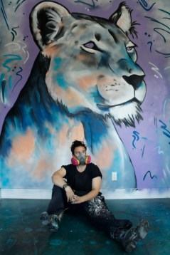 Shadowmonsterbear, LA Residency ©2017 SAiR; Photo credit Julie Faith