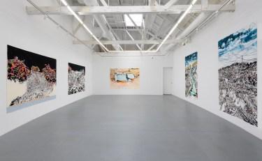 Francesca Gabbiani, Vague Terrains / Urban Fuckups, Installation view, at Gavlak Gallery. Photo courtesy of the gallery.
