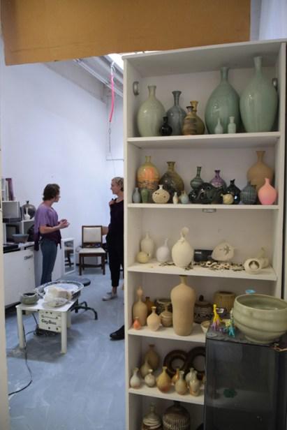 Thalia Isen at CGU Open Studios. Photo credit: Kristine Schomaker.