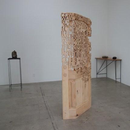 Jason Manley, Bedroom, 2018, alderwood, JAUS Gallery. Photo courtesy of the gallery.