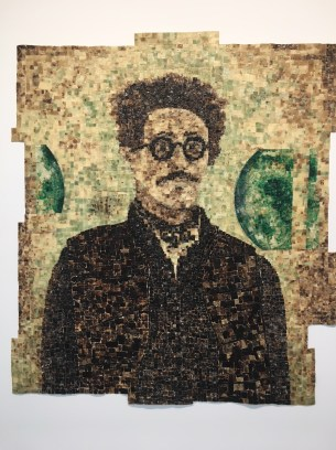 Jack Whitten, Self Portrait With Satellites at Hauser Wirth Los Angeles. Photo credit: Nancy Kay Turner