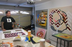 Alex Couwenberg. Studio Visit with Gary Brewer. Photo Credit Gary Brewer
