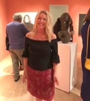 Curator Elizabeth Tinglof in SHē at LAUNCH LA. Photo credit: Genie Davis.