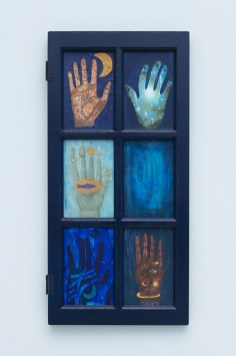 Blue Window of the Mystic Palms. Betye Saar. Something Blue at Roberts Projects. Photo courtesy of the artist and Roberts Projects