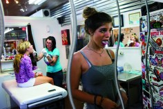 "Kitra Cahana, Getting her tongue pierced was ""exciting and scary"" says a teen who succumbed to pressure from her best friend. Women of Vision, Forest Lawn. Photo courtesy National Geographic Society."