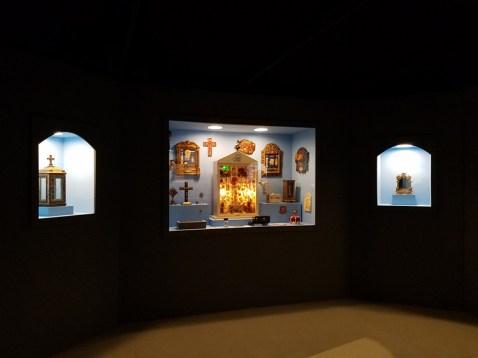 Relic Chamber, Blinky the Friendly Hen, CSUN Art Gallery; Photo Credit: Kristine Schomaker
