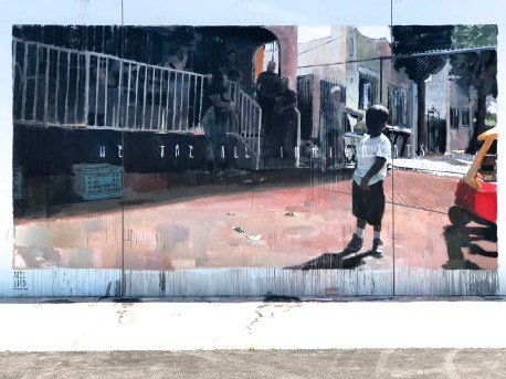 Axel Void, Branded Arts-Maya Angelou Mural Festival ©2019 A_C, Photo credit Julie Faith