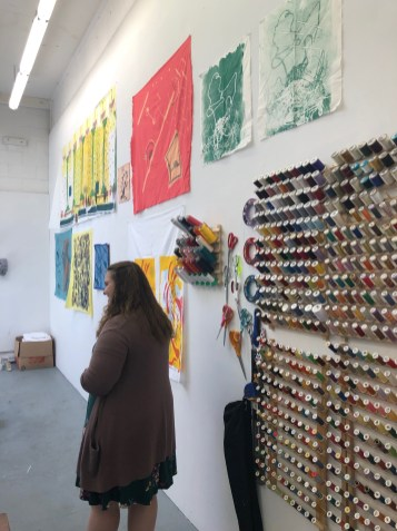 Claremont Graduate University MFA Open Studios. Madeline Arnault. Photo credit: Chelsea Boxwell.