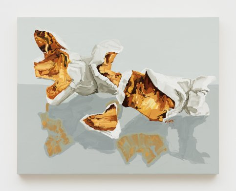 Kirsten Everberg, Red Formica and Popcorn (Pae White, Double), Life Still, 1301PE; Image courtesy of the gallery