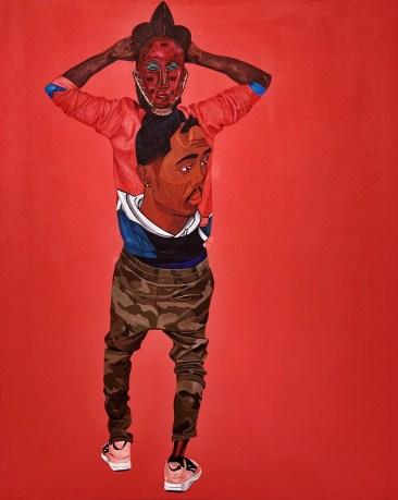 Dr. Fahamu Pecou, Know the Ledge, Trapademia, Kopeikin Gallery; Image courtesy of the gallery