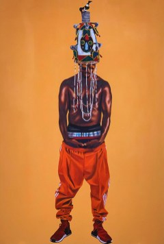 Dr. Fahamu Pecou, Monsters and Saints, Trapademia, Kopeikin Gallery; Image courtesy of the gallery