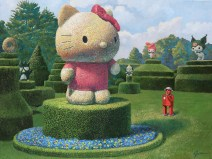 Eri Joyner, Happy Garden, Hello Kitty Show, Corey Helford Gallery; Photo credit Genie Davis