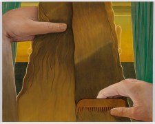 Michael Stamm, Combing, Roommates, Shulamit Nazarian; Image courtesy of the gallery