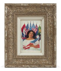 Linda Vallejo, Make 'Em All Mexican: Little Fourth of July Princess, Brown Belongings, LA Plaza de Cultura y Artes; Image courtesy of the artist