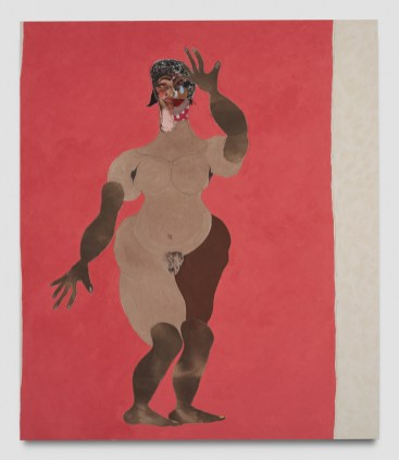 Tschabalala Self, Damsel, Punch Curated by Nina Chanel Abney, Jeffrey Deitch; Photo credit Elon Schoenholz