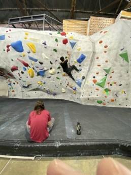 Stronghold Climbing Gym, Brewery Artwalk; Photo Credit Dani Dodge