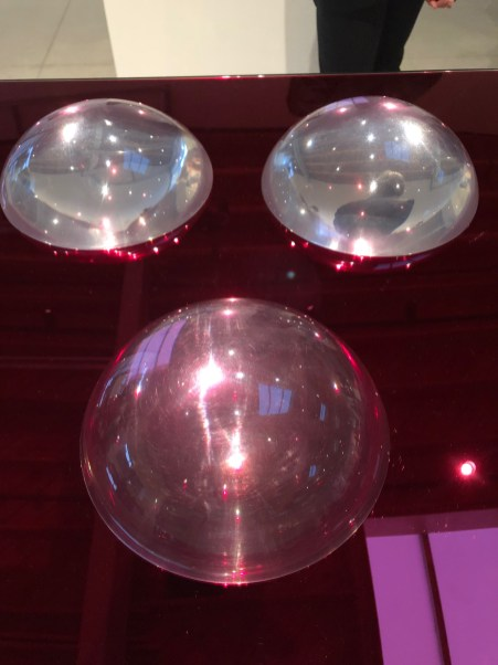 Judy Chicago, Clear Domes on Red Bases, Judy Chicago: Los Angeles, Jeffrey Deitch Los Angeles; Photo credit Betty Brown