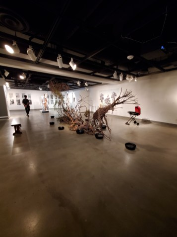 Hilary Norcliffe, River Run Expecto Patronus, St. Broxville Wood: Into the Thicket, Kellogg University Art Gallery; Photo credit Sydney Walters