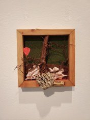 Hilary Norcliffe, The Juniper Tree #2, St. Broxville Wood: Into the Thicket, Kellogg University Art Gallery; Photo credit Sydney Walters