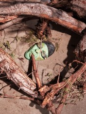 Hilary Norcliffe, Wicked Witch of the West Goes Deep Tree Diving, St. Broxville Wood: Into the Thicket, Kellogg University Art Gallery; Photo credit Sydney Walters