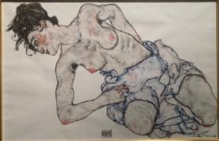 Egon Schiele. LA Art Show, LA Convention Center; Photo credit Nancy Kay Turner
