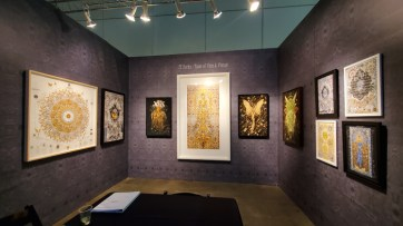 JT Burke. LA Art Show, LA Convention Center; Photo credit Kristine Schomaker