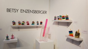 Betsy Enzensberger. LA Art Show, LA Convention Center; Photo credit Kristine Schomaker