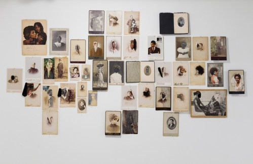Jessica Wimbley, Cabinet Cards installation; Image courtesy of the artist