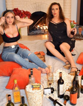 Tarrah von Lintel & Ashley Hepburn, Boozing, Day 26. It was a bit of a rough afternoon; Image courtesy of Tarrah von Lintel