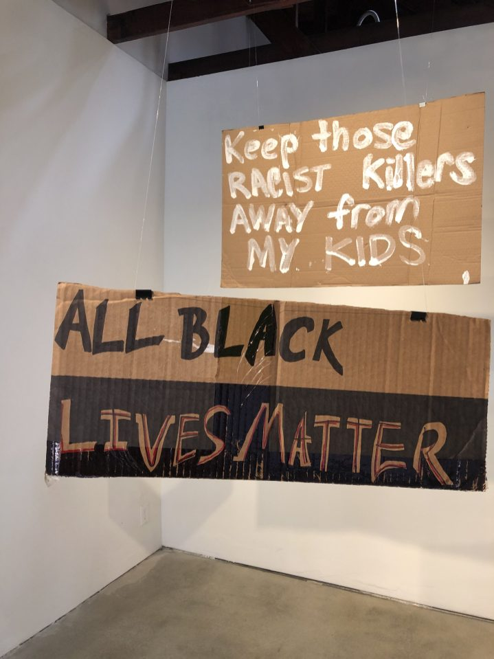 Thomas Martinez & Keegan Hornbeck, Protest in Place, SoLA; Image courtesy of the gallery