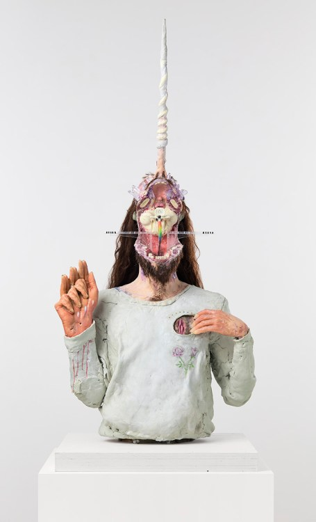 David Altmejd, The Unicorn, 2021, The Enlightenment of the Witch, David Kordansky Gallery; Photo credit Lee Thompson Courtesy of David Kordansky Gallery