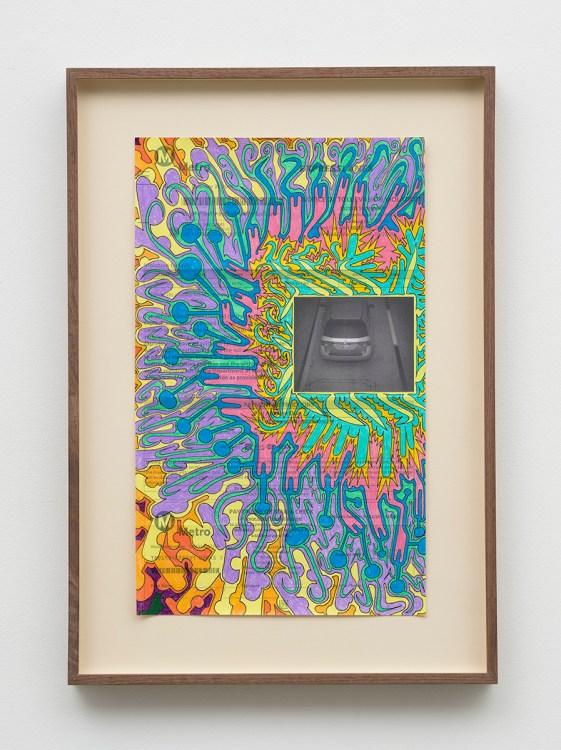 Michael Williams, Toll Evasion Drawing, The Beatitudes of Malibu, David Kordansky Gallery; Image courtesy of David Kordansky Gallery