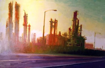 William Wray, Wilmington Refinery, 2016. Photo Courtesy Of The Artist. In the Land of Sunshine: Imaging the California Coast Culture, September 25, 2016-February 19, 2017, Pasadena Museum of California Art.