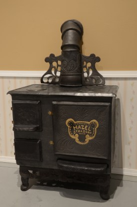 "Hazel Straight 1880's Wood Fire Stove, Ceramic, 55""x32""x24"", 2016 GLAMFA 2017"