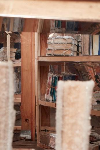 Edgar Arceneaux, Library of Black Lies at The Main Museum. Photo Courtesy of Beta Main. Photo Credit Elon Schoenholz.