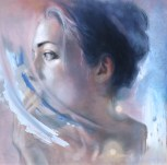 Meredith Marsone, Holding Back, Corey Helford Gallery Photo credit- JulieFaith ©2017, All rights reserved.