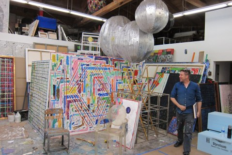 Studio visit with Mark Dutcher. Photo Credit Gary Brewer.
