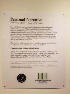 Personal Narrative. Annenberg Community Beach House Gallery. Photo Credit Kristine Schomaker.