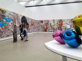 Jeff Koons and Takashi Murakami. The Broad. Photo Credit Kristine Schomaker