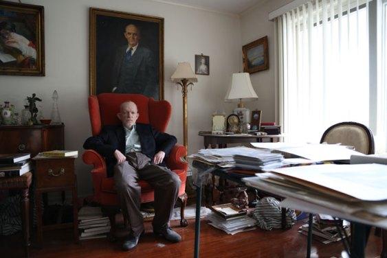 Landis in his home studio