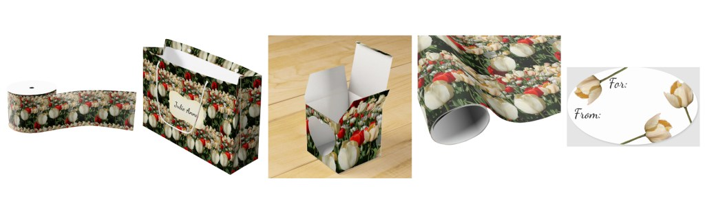 scarlet and cream gift wrap collection - click through to purchase