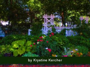 Climbing Rose Trellis Painterly Cottage Garden