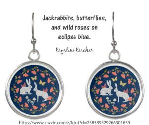 Click through to shop artwork featuring hares and sulphur butterflies on Zazzle.