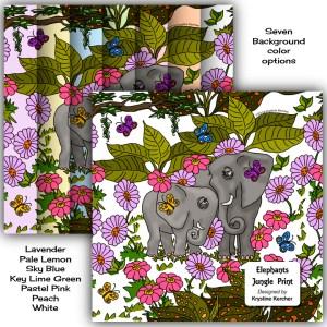 Elephant babies design collection