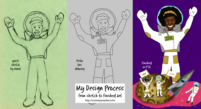 My design process: from sketch to finish media