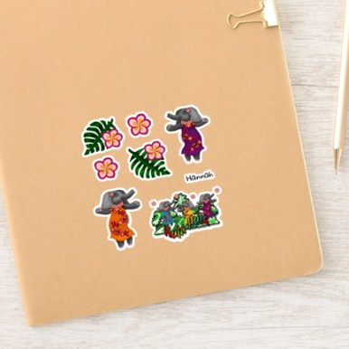 Total size: 6x6 inches. These stickers work for many different applications.